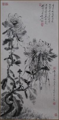 《菊香》68X35cm 作者:毕文瑾 价格:20000元 - 热销作品 - 京龙艺圣