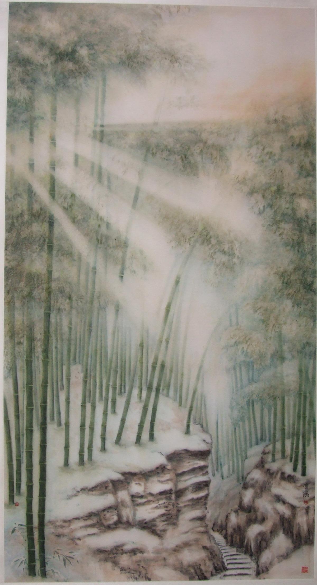 《安吉竹海》180X120cm作者:史学良 价格:商议 - 热销作品 - 京龙艺圣