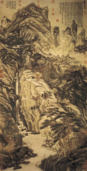 《庐山高图》——沈周 - 艺术鉴赏 - 京龙艺圣