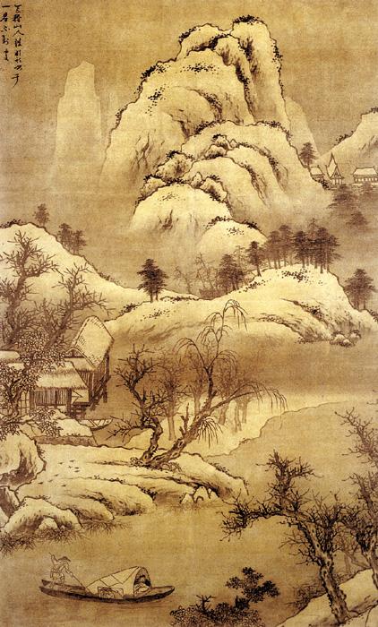 《雪溪放舟图》——钟钦礼 - 艺术鉴赏 - 京龙艺圣