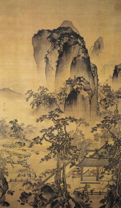 《松院闲吟图》——朱端 - 艺术鉴赏 - 京龙艺圣