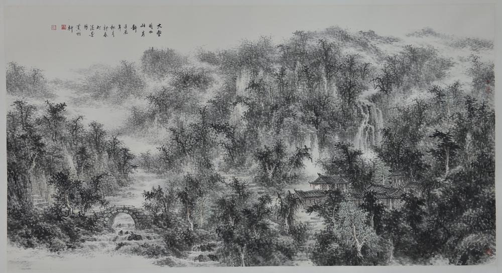 大明山水:郭春 - 山水展馆 - 京龙艺圣