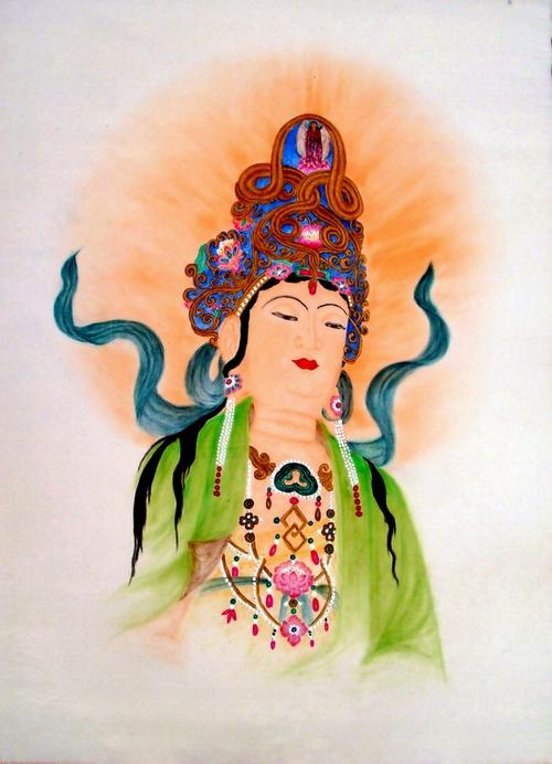 漆帛画:任志伟 - 花鸟人物 - 京龙艺圣