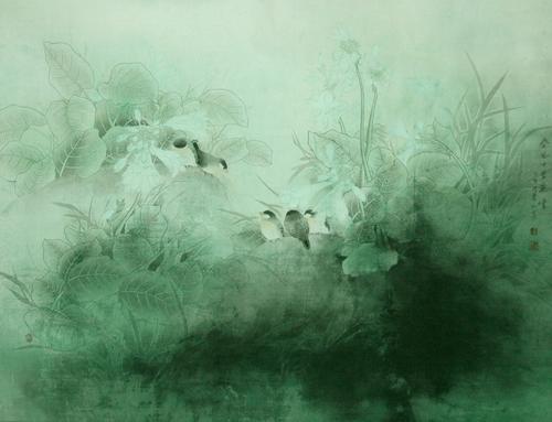 清新:许永胜 - 花鸟人物 - 京龙艺圣