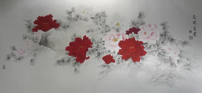 牡丹:许永胜 - 花鸟人物 - 京龙艺圣