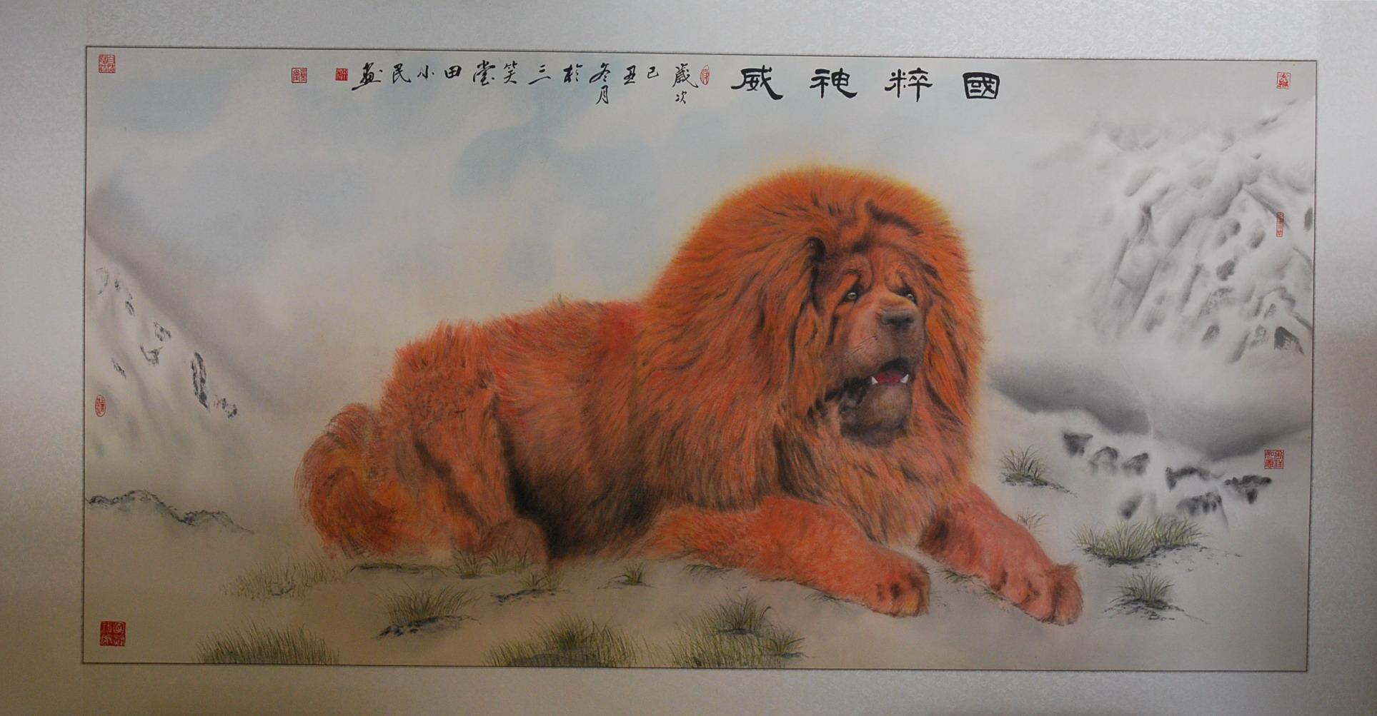 藏獒:田小民 - 花鸟人物 - 京龙艺圣