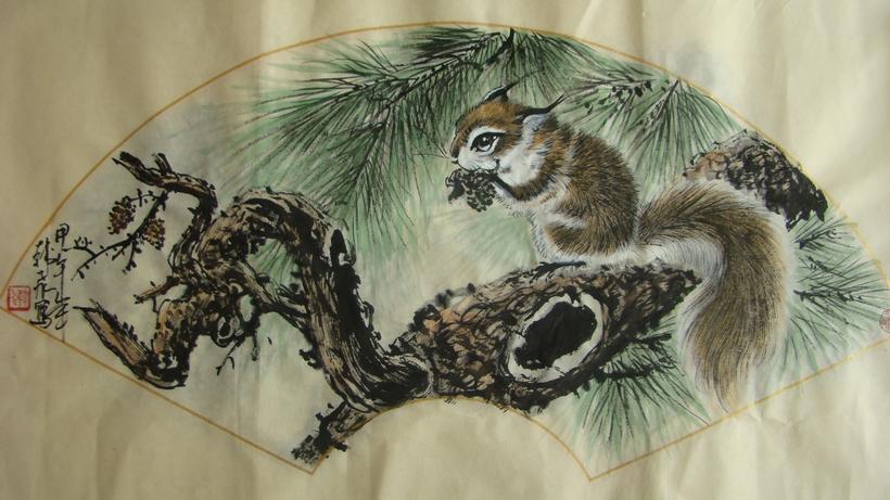 欢乐图二:韩飞 - 花鸟人物 - 京龙艺圣