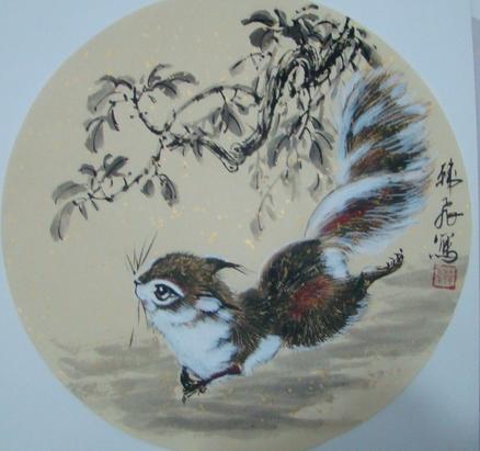 欢乐图一:韩飞 - 花鸟人物 - 京龙艺圣