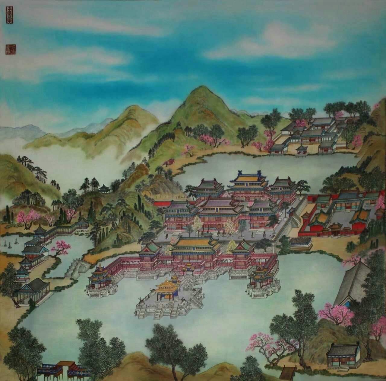 举世无双梦幻般的艺术典范《帛本—精工彩绘圆明园》 - 最新资讯 - 京龙艺圣